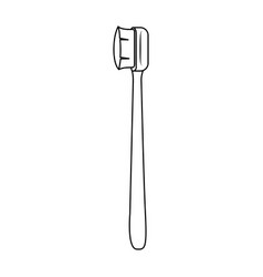 manual toothbrush tool monochrome silhouette vector image