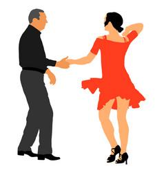 mature tango dancing couple elegant dancers vector image