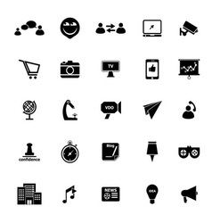 Media marketing icons on white background vector