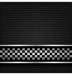 Metallic perforated sheet for race vector image