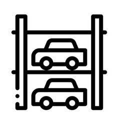 Multi-storey parking icon outline vector