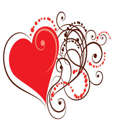 Ornamental heart eps vector
