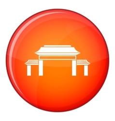 Pagoda icon flat style vector