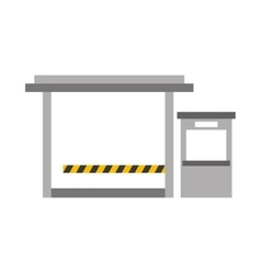 Parking entrance isolated icon vector