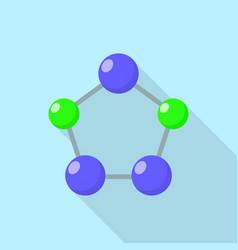 Pentagon molecule icon flat style vector