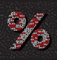 percent sign for autumn sale on black friday vector image