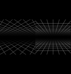 Perspective grids geometric lines 3d effect vector