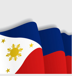 Philippines waving Flag vector image