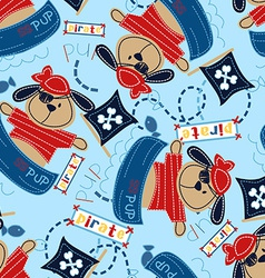 Pirate pup in his boat vector image