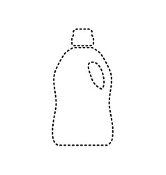 plastic bottle for cleaning black dashed vector image
