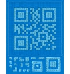 QR-code vector image vector image