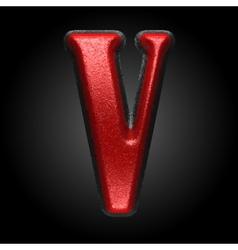 Red plastic figure v vector
