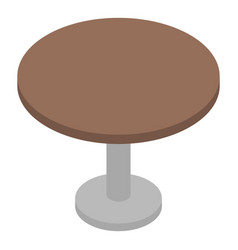 Round bar table icon isometric style vector