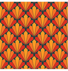 Seamless colorful fan scales repeating pattern vector image