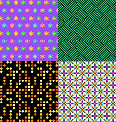 Seamless patterns Set 2 Abstract colorful vector