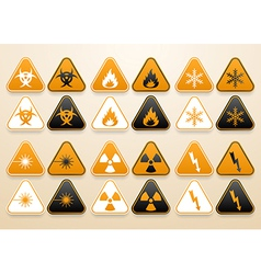 Set of warning signs vector image