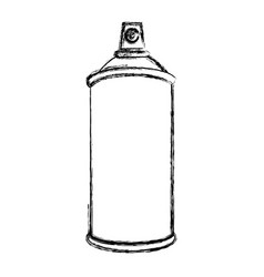 sketch silhouette aerosol spray bottle container vector image
