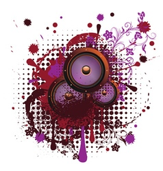 Sound Speaker with Floral4 vector image