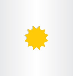 star icon sunlight symbol design element vector image