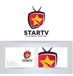 Star television logo design vector