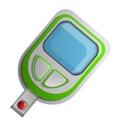 sugar glucose meter icon cartoon style vector image