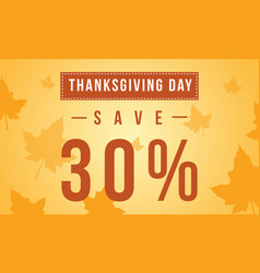 Thanksgiving day sale background style vector