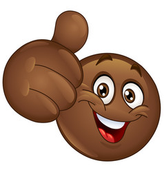 thumb up african emoticon vector image