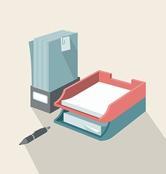 Trays for Papers vector image