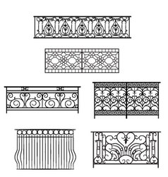 Types of balcony railing vector image