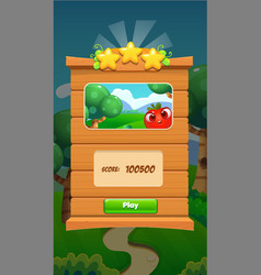 Ui game user interface panel for mobile popup vector