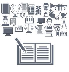 University icons set vector
