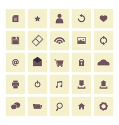 Vintage Website Icons Set vector image