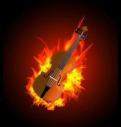 Violin in Fire vector image