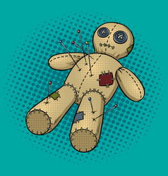 Voodoo doll pop art vector
