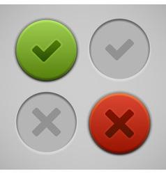 Web site check buttons vector image