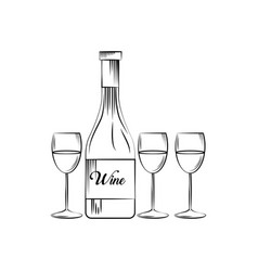 Wine house design vector