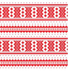 Winter cross-stitch pattern sami art vector