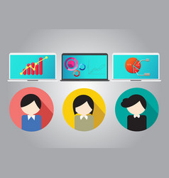 business concept teamwork meeting and brainstorm vector image vector image