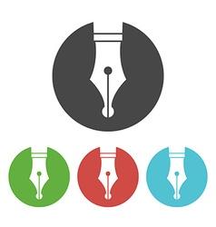 Fountain pen icon vector image