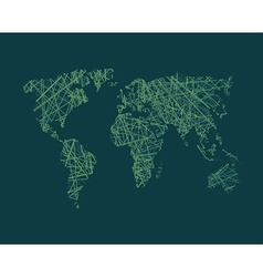 World map global network royalty free vector image map of world network continents of planet earth vector image gumiabroncs Image collections