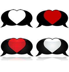 Passionate talk vector image vector image