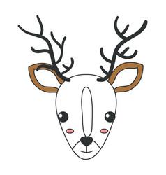 cute and tender reindeer vector image vector image