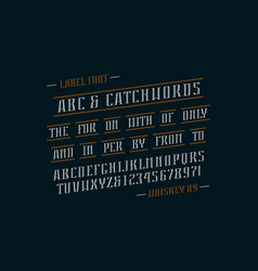 decorative italic serif font and catchwords vector image
