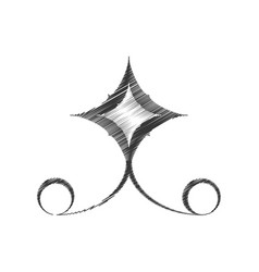 drawing decorate ornate style swirl vector image vector image
