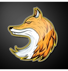Fox color emblem vector image