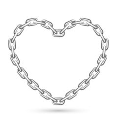 Metal Heart Shaped Chain vector image vector image