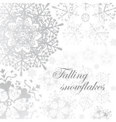 winter grey snowflakes christmas pattern vector image