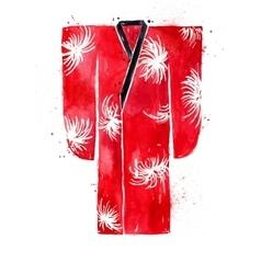 Chinese symbols kimono vector image