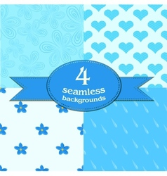 cute seamless backgrounds vector image