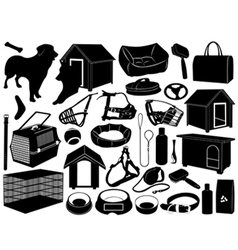 different objects for dogs vector image